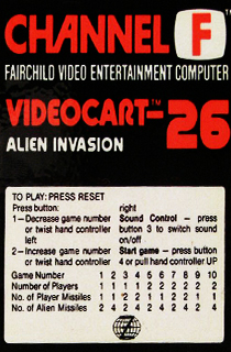 Videocart 26: Alien Invasion